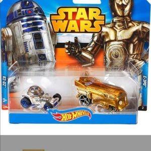 6 Star Wars Hot Wheels 3/2packs